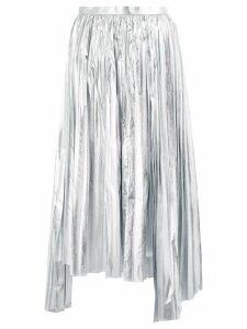 Juun.J asymmetric pleated skirt - Silver