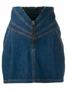 Attico high-waisted denim skirt - Blue