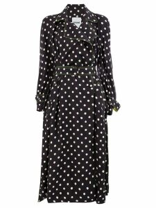 Koché polka dot trench coat - Black