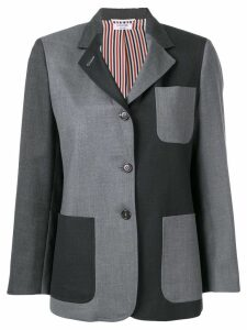 Thom Browne Sack Fun-Mix Twill Sport Coat - Grey