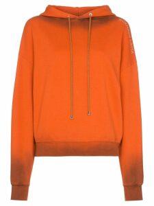 Eckhaus Latta burnt effect hoodie - Orange