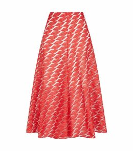 Jacquard Lips Midi Skirt
