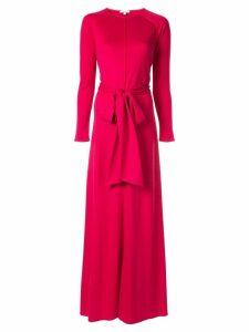 Layeur tie waist evening dress - Pink