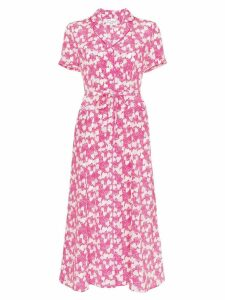 HVN Maria strawberry print midi dress - Pink