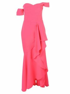 Marchesa Notte pleated bodice gown - Pink