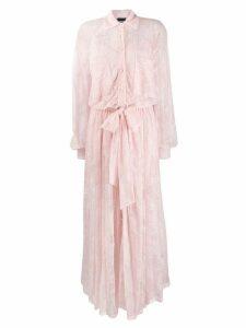 Ermanno Ermanno maxi lace shirt dress - Pink