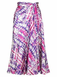 Prabal Gurung tie dye sarong skirt - Purple