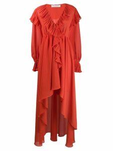 Philosophy Di Lorenzo Serafini ruffled asymmetric dress - Orange