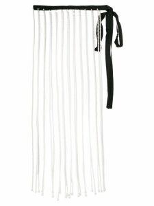 Christopher Kane pearl fringe skirt - Neutrals