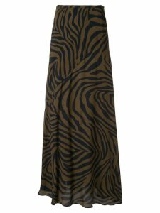 Layeur zebra print skirt - Brown