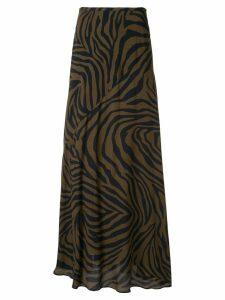 Layeur zebra print skirt - Brown