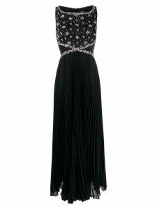Ermanno Ermanno embellished sleeveless gown - Black