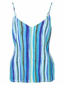 L'Agence striped print top - Blue