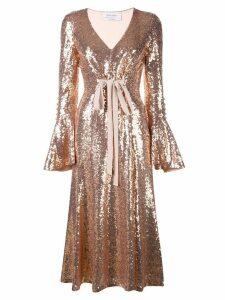 Prabal Gurung sequined midi dress - Metallic