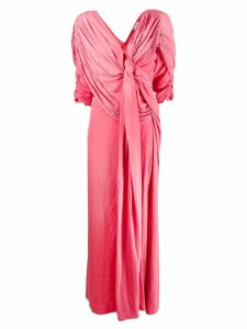 LANVIN pleated floor length gown - Pink