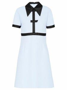 Miu Miu Cady contrast dress - Blue