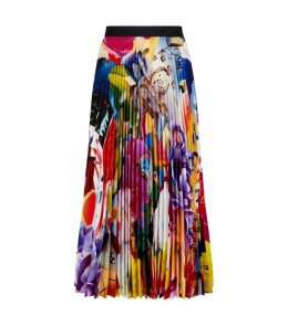 Uni Abstract Pleated Skirt
