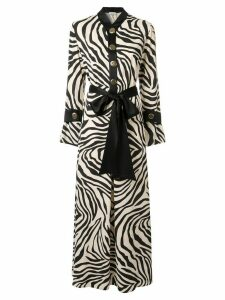 Layeur zebra printed maxi dress - White