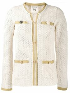 Semicouture crochet blazer - Neutrals