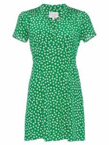 HVN Morgan floral print mini dress - Green