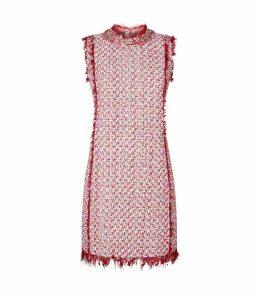 Embellished Tweed Shift Dress