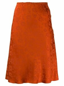 Alexa Chung floral jacquard skirt - Orange