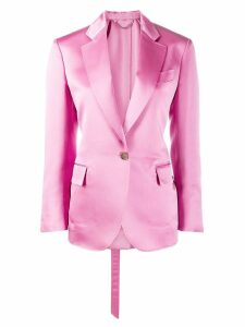 Salvatore Ferragamo single breasted blazer - PINK