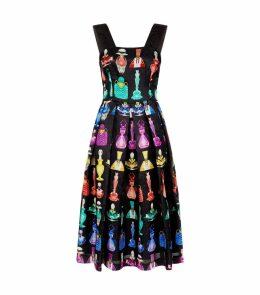 Crystal Perfume Bottle Midi Dress