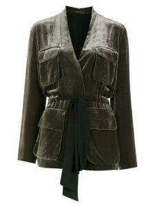 Andrea Marques velvet blazer - Green