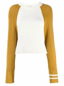 MRZ two-tone ribbed knit sweater - White