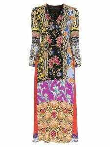 Etro patchwork print midi dress - Multicoloured