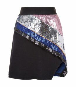 Mirage Striped Sequin Skirt
