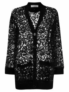 Valentino knitted lace cardigan - Black
