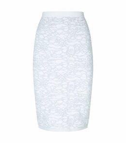 Lurex Jacquard Knit Skirt