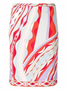 Emilio Pucci Burle Print Skirt - Red