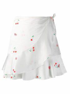 Chiara Ferragni cherry wrap skirt - White