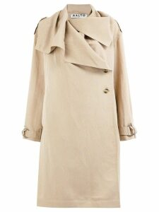 Aalto draped collar trench coat - Neutrals