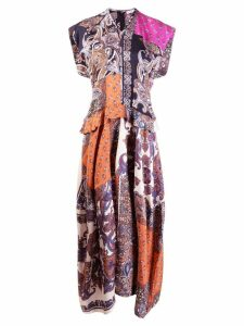 Chloé paisley print multi panel dress - Orange