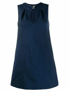 Blanca keyhole shift dress - Blue