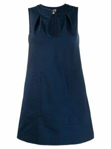 Blanca keyhole shift dress - Blue