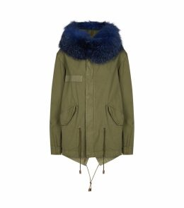 Fur Collar Mini Parka