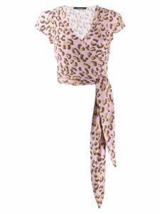 Andamane dot pattern wrap dress - Pink