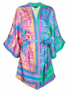 Versace dressing gown-style dress - Multicolour