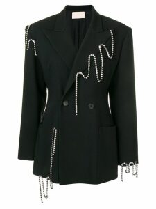 Christopher Kane squiggle cupchain tailored jacket - Black