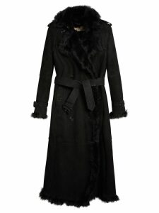 Burberry shearling trench coat - Black