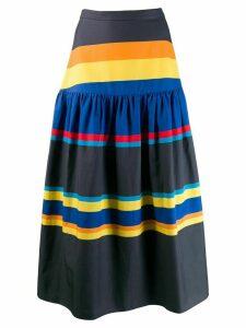 Chinti & Parker striped skirt - Blue