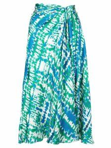 Prabal Gurung new sarong skirt - Green