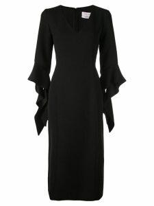 Prabal Gurung ruffled cuff dress - Black