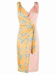 Three Floor Wrap Talk dress - Yellow
