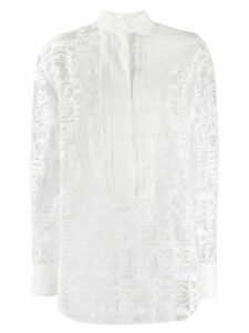 Chloé logo lace shirt - White
